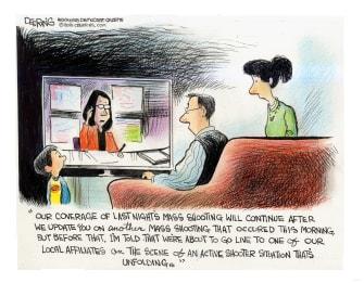 Editorial Cartoon U.S. mass shootings