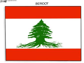 Editorial Cartoon U.S. Lebanon Beirut corruption blast