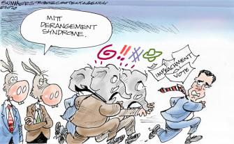 Political Cartoon U.S. Romney impeachment vote run GOP