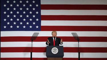 President Trump announces his tax plan.