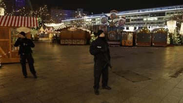 A truck ran into a Christmas market in Berlin, Germany.