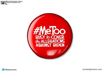 Political Cartoon U.S. Biden Tara Reade allegations metoo
