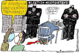 Political Cartoon U.S. Trump election fraud