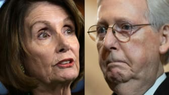 Nancy Pelosi and Mitch McConnell