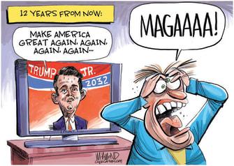 Political Cartoon U.S. Trump Jr MAGA