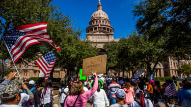 Pro-immigrant protesters in Austin, Texas, on Thursday.