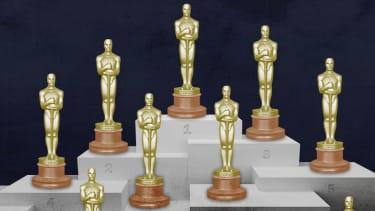 Oscar statuettes.