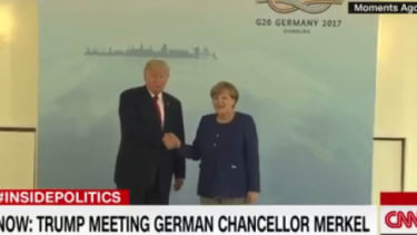 President Trump and Angela Merkel.
