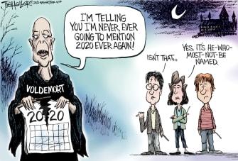 Editorial Cartoon U.S. Harry Potter Voldemort 2020