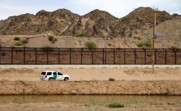 A Border Patrol agent's car.