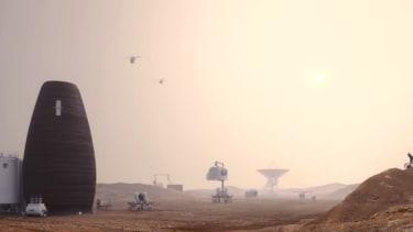 A Mars habitat.