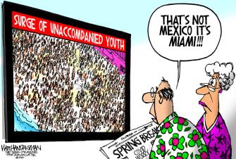 Editorial Cartoon U.S. spring break covid mexico