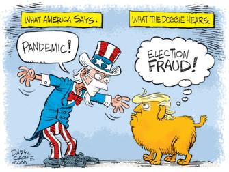 Political Cartoon U.S. Trump COVID election
