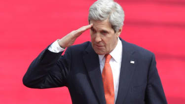 Secretary of State John Kerry says potential foreign exchange students and their families don't think the US is safe.