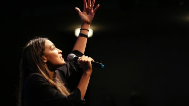 Alexandria Ocasio-Cortez in California