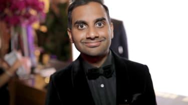 Aziz Ansari at the Golden Globes after party