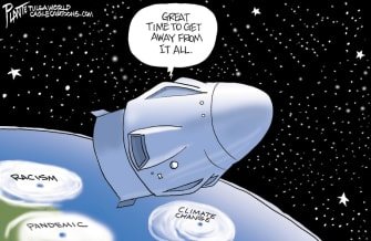 Editorial Cartoon U.S. spacex coronavirus George Floyd protests
