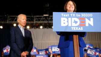 Amy Klobuchar and Joe Biden.