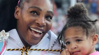 Serena Williams and her daughter.