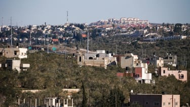 A view of the Israeli Jewish settlement of Ariel from the West Bank.