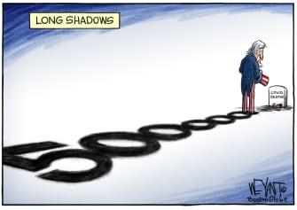 Editorial Cartoon U.S. covid 500000 deaths