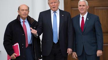 Donald Trump with billionaire Cabinet pick Wilbur Ross