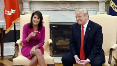 Nikki Haley and Donald Trump