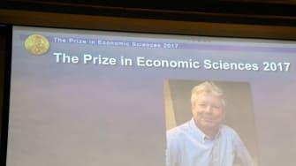 Richard Thaler wins the 2017 Nobel Prize in economics