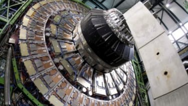 The Large Hadron Collider is a giant particle accelerator in Switzerland that scientists use to study matter... and may one day be a tool for time travel.