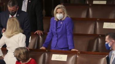 Liz Cheney in the House chamber