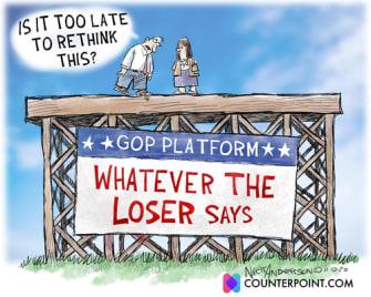 Political Cartoon U.S. Trump loser platform GOP