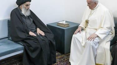 Ayatollah Ali al-Sistani and Pope Francis.