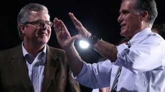 Jeb Bush and Mitt Romney.