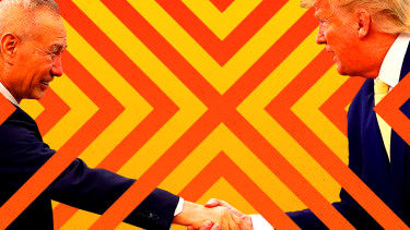 President Trump and Liu He.