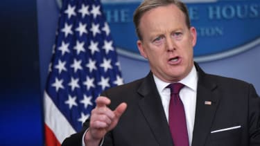 Sean Spicer, cracking down on leaks