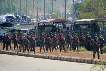 Troops in Myanmar