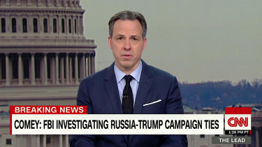 Jake Tapper burns Fox News for not covering Comey testimony on Trump and Russai