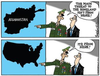 Editorial Cartoon U.S. afghanistan withdrawal domestic terrorism