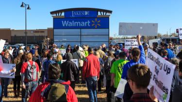 A rally against Walmart.