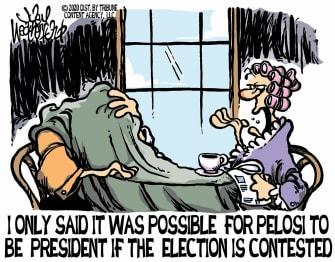 Political Cartoon U.S. 2020 election Pelosi