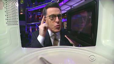 Stephen Colbert is skeptical that President Trump leaked his own tax returns