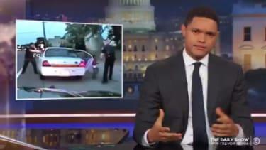 Trevor Noah reacts to the dash cam footage of the shooting of Philando Castile.