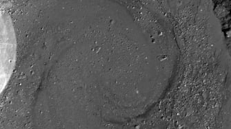 A swirly lava pool on the moon