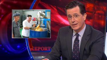 Stephen Colbert mocks Kim Jong Un's giddiness over North Korean lube