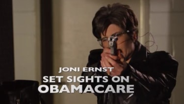 Iowa Republican fires gun at shooting range, promises ObamaCare will be next