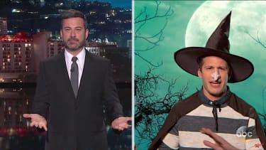 Jimmy Kimmel interviews a witch