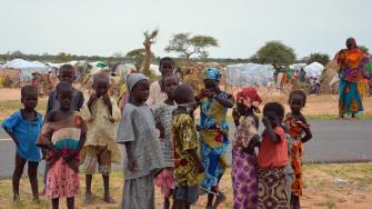 Refugee children in Nigeria.