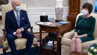 Joe Biden and Susan Collins.