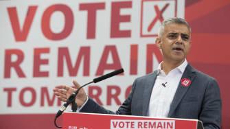 London's Mayor Sadiq Khan