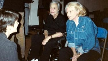 Edie Windsor (right) with Thea Spyer (left) five years before they were married; Windsor's story reportedly led Obama to change his gay-marriage policy.